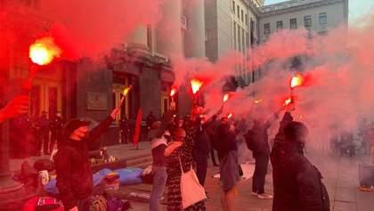 Активісти знову прийшли з протестом під будинок Венедіктової через справу Гандзюк: відео