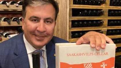 С грузинским вином: Саакашвили показал, как празднует назначение – фото