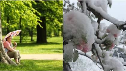 Один день жара, другой – снег: синоптики удивили прогнозом погоды на следующую неделю