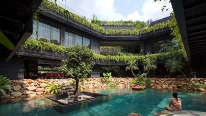 Тропический рай: в Сингапуре построили апартаменты в виде водопада – фото
