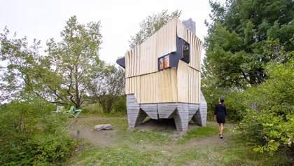 Врятоване дерево та економія ресурсу: як дизайнери надрукували бетонний фундамент для хатинки