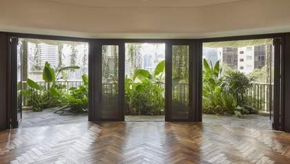 Джунгли за окном – нестандартный проект дома в урбанистической части Сингапура: фото