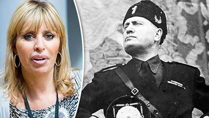 Реакція на зняття санкцій: онука Муссоліні стверджує, що ніколи не була в Україні