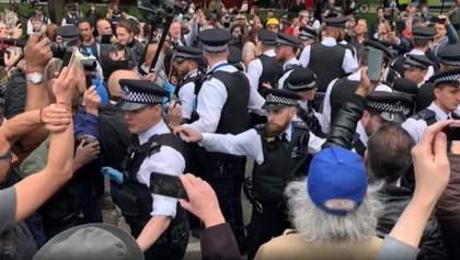 В Лондоне во время протеста против карантина задержали 19 человек: видео