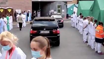 Коридор ганьби: медики в Бельгії влаштували вражаючу протестну акцію – відео