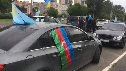 У Києві автопробігом вшанували пам'ять жертв депортації кримських татар: фото, відео