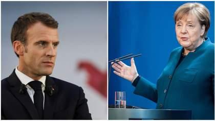 ЄС має позичити 500 мільярдів євро на відновлення економіки: спільна заява Меркель та Макрона