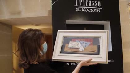 Итальянка выиграла картину Пикассо стоимостью миллион евро: видео