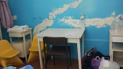 Даже света нет: ужасные условия в палатах для пациентов с коронавирусом на Прикарпатье – фото