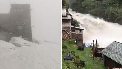 За неделю до лета в Карпатах выпал снег, а в целом в области объявили штормовое предупреждение