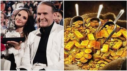 Три пальто Медведчука и 97 компаний Марченко: кум Путина обнародовал свое космическое состояние