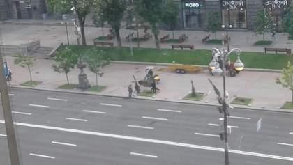 З Хрещатика в Києві зникли каштани та висадили тут ялівець: пояснення Кличка