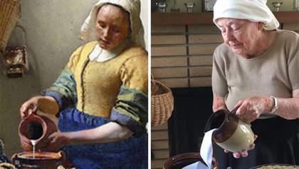 Дочка и ее 83-летняя мама воссоздали известные картины искусства дома: эффектные фото