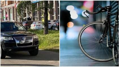 За побиття велосипедиста водій Volkswagen може сісти за ґрати: йому вже вручили підозру