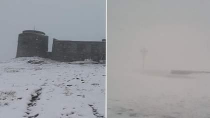 В останній день весни Карпати замело снігом, погода значно погіршилася