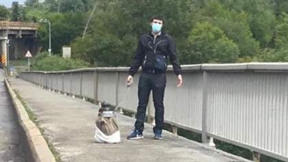 Суд отправил под стражу минера моста Метро в Киеве