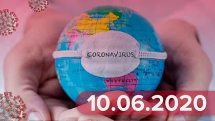 Новини про коронавірус 10 червня: рекорд летальних випадків, коли ЄС впустить іноземців