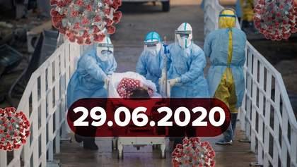 Новини про коронавірус 29 червня: менше випадків в Україні, понад пів мільйона смертей у світі