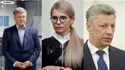 У Порошенка, Бойка та Тимошенко мало шансів, щоб стати президентами: соціолог назвав причину