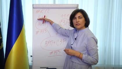 Венедіктова розписала на дошці, чому виклик на допит Порошенка законний: відео