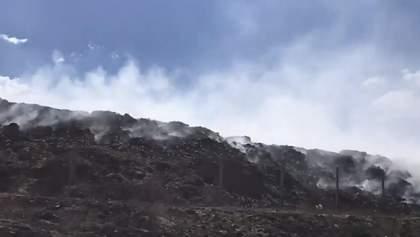Пожары на Луганщине: в Северодонецке горит городская свалка – видео