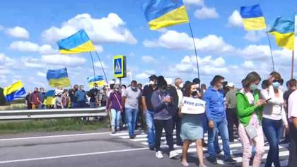 """Трасса """"Киев – Одесса"""" из-за митингующих стоит в пробках: полиция открыла дело"""