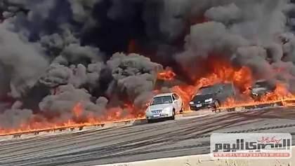 Вибух і масштабна пожежа на нафтопроводі в Єгипті: багато людей постраждали – відео, фото