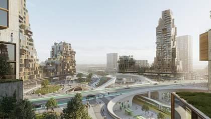"""В Канаді побудують """"місто майбутнього"""" з вокзалом у центрі: концепція та фото"""