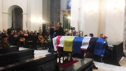 Вшанування героя: у Києві прощаються з Миколою Іліним – фото та відео