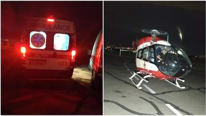 ДТП біля села Дубина: важко травмовану дівчинку гелікоптером перевезли з Бродів до Києва