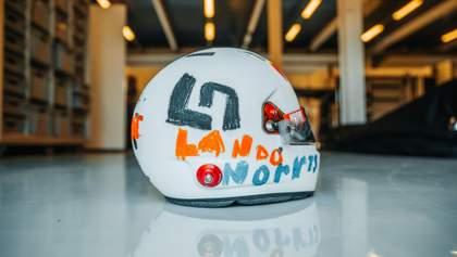 Пілот Формули-1 виступить на перегонах у шоломі, дизайн якого розробила 6-річна дівчинка: фото
