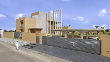 Приватність понад усе – стильний дизайн та інтер'єр будинку в Індії: фото