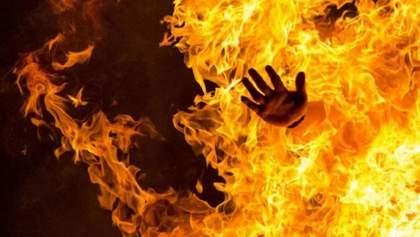 У Запоріжжі біля храму жінка спалила себе: моторошні фото 18+