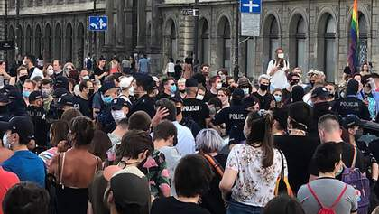 На ЛГБТ-акции в Польше задержали почти 50 человек: детали