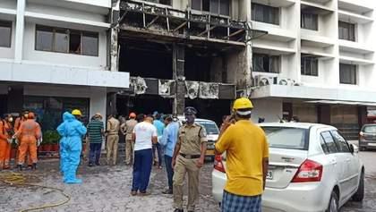 В Индии произошел пожар в отеле-больнице с больными коронавирусом: много погибших