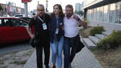 У Мінську поранили журналістку Лубневську: відео стрілянини