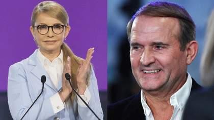 Газовий контракт та врегулювання на Донбасі: як співпрацюють Тимошенко та Медведчук