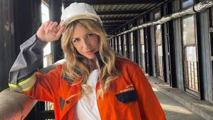 У робітничій формі: Леся Нікітюк здивувала образом у шахті – фото