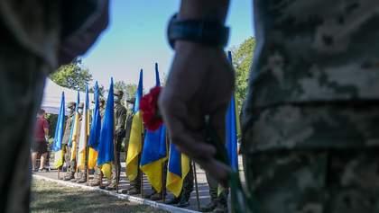 Как отметили День памяти защитников в городах Украины: фото, видео
