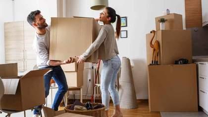 Переїзд на нову квартиру: поради для пар