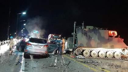 Американські військові на БТРі потрапили в ДТП у Південній Кореї: є жертви – фото