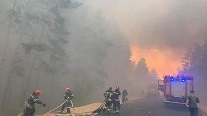 Масштабні пожежі на Луганщині: гасіння пожежі завершили