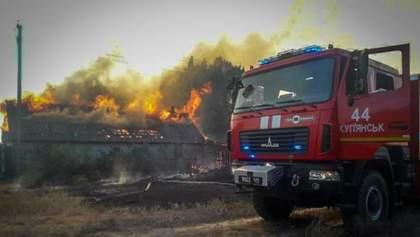 Пожежі у Дворічанському районі Харківщини ліквідували: фото й відео