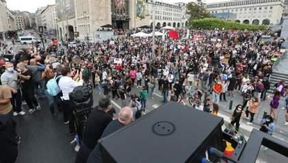 У Брюсселі розігнали протест проти карантинних обмежень: є затримані – фото