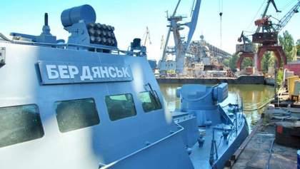 """Катер """"Бердянск"""", побывавший в российском плену, спустили на воду: фото"""