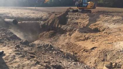 Вибух на газопроводі в Чабанах: фото, відео