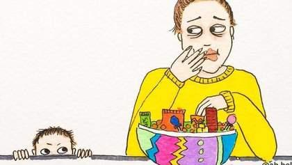 Материнство без прикрас: женщина показала курьезные картинки своих будней