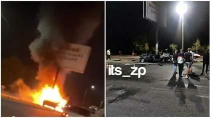 Страшная авария в Запорожье: в авто заживо сгорели трое студентов – видео