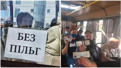 Відмовився везти безкоштовно: ветерани АТО у Кропивницькому оригінально провчили водія маршрутки