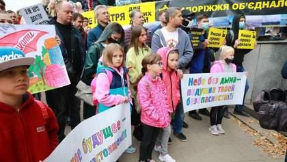Экоактивисты в Запорожье не смогли объяснить, для чего собрались перед выборами